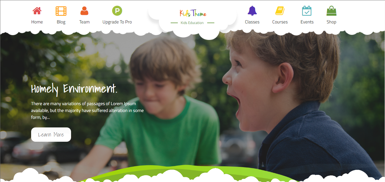 Kids Education - Free WordPress Education Theme