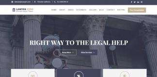 Lawyer Zone – Free Lawyer WordPress Theme
