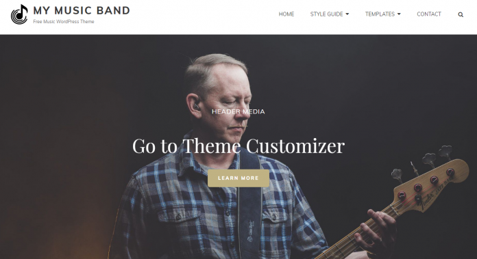 My Music Band - Free Entertainment WordPress Theme