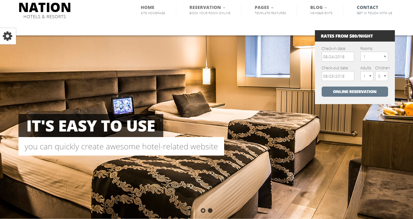 Nation Hotel - 10+ Best Hotel / Resort Premium WordPress Themes and Templates
