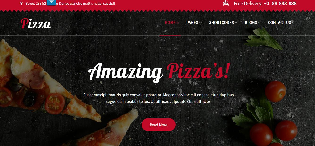 Pizza Lite - Free WP Resataurant Theme