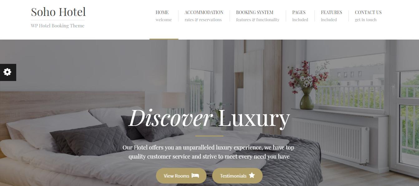 Soho Hotel Booking Hotel WordPress Theme - 10+ Best Hotel / Resort Premium WordPress Themes and Templates