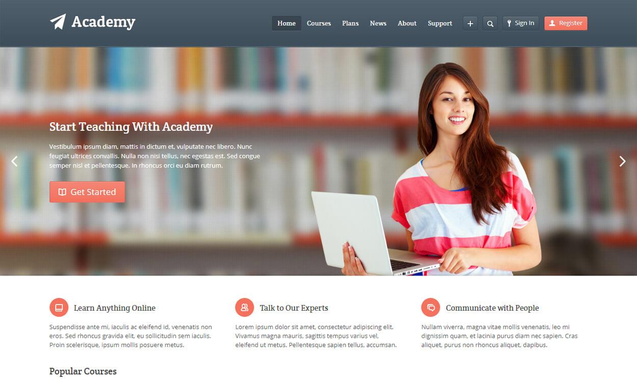 academy best education school college wordpress themes templates free - 10+ Best Education - School, College WordPress Themes and Templates (Free)