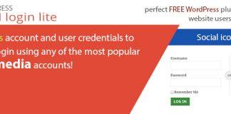 AccessPress Social Login Lite – Free Social Login WordPress Plugin