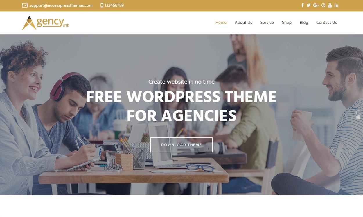 agency lite best agency wordpress themes - 10+ Best Agency WordPress Themes and Templates (Free)