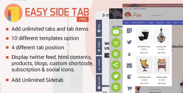 easy side tab pro - How to enhance your WordPress website Navigation with Mega Menu, Fly Menu, Circular Menu, Custom menu icons and more!