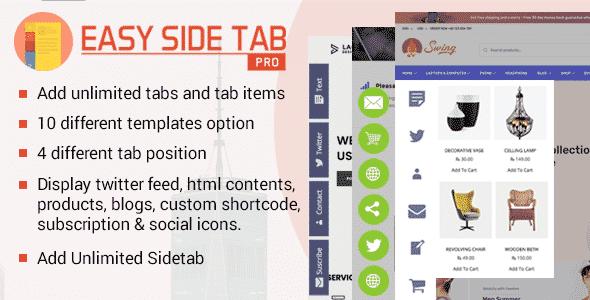 Easy Side Tab Pro – Responsive WordPress Floating Tab Plugin