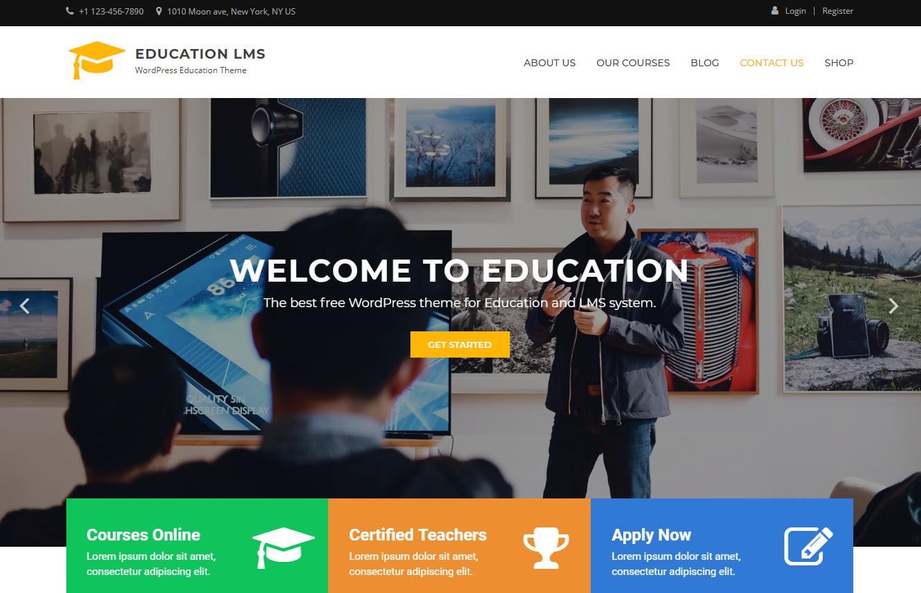education lms best education school college wordpress themes templates free - 10+ Best Education - School, College WordPress Themes and Templates (Free)