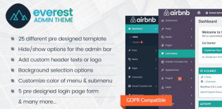 Everest Admin Theme – WordPress Backend Customizer Plugin