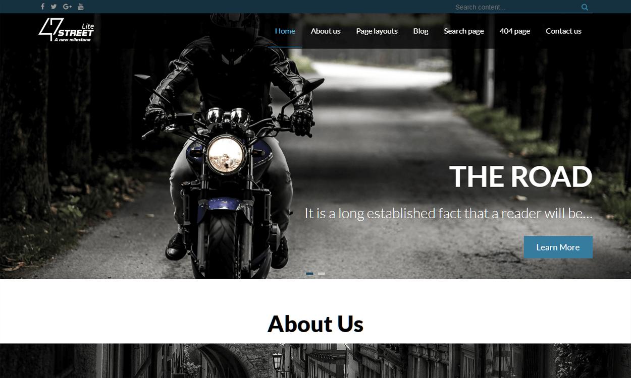 fortyseven street best agency wordpress themes templates free - 10+ Best Agency WordPress Themes and Templates (Free)