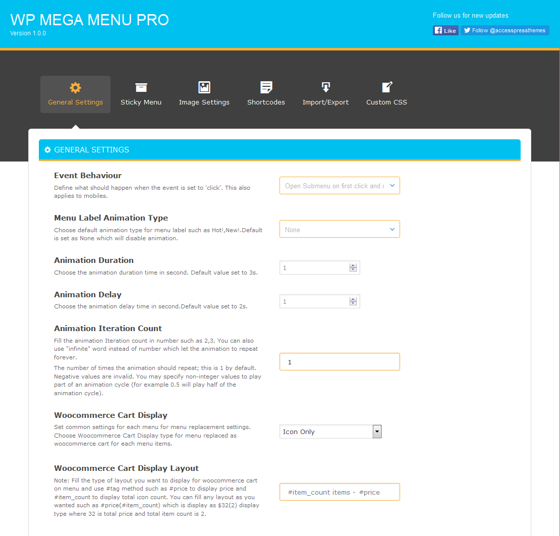 general settings - How to Add Mega Menu in your WordPress Website or Blog (Step by step guide: screenshots included!)