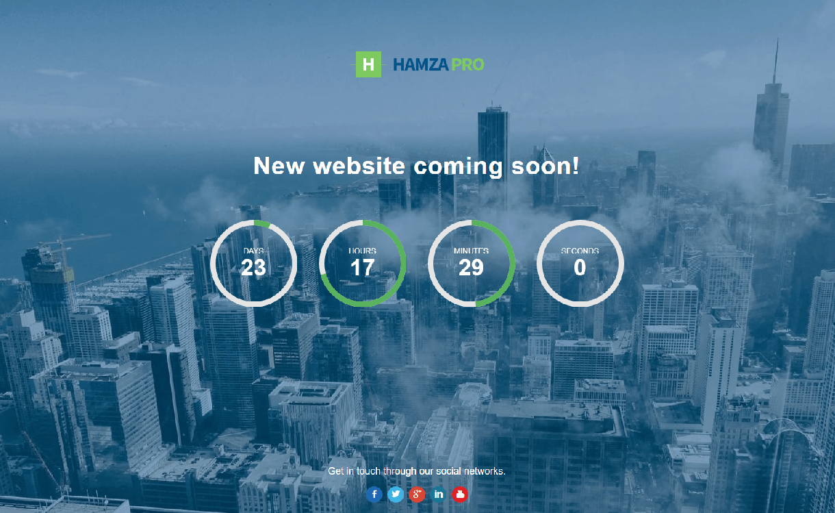hamza pro best coming soon maintenance page wordpress themes templates 1 - 10+ Best Coming Soon and Under Maintenance WordPress Themes and Templates(Premium Version)
