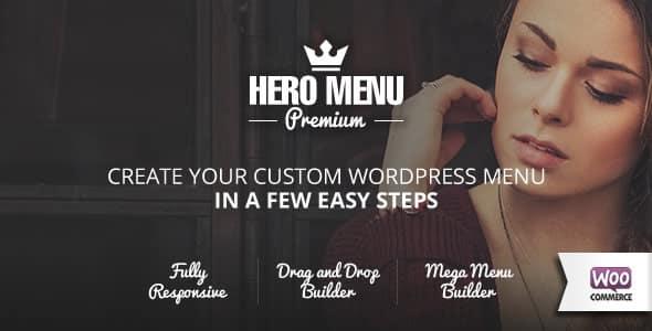 hero menu - How to enhance your WordPress website Navigation with Mega Menu, Fly Menu, Circular Menu, Custom menu icons and more!