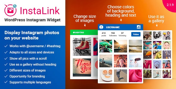 instalink - 5+ Best WordPress Instagram Feed and Gallery Plugins 2019 (premium list)