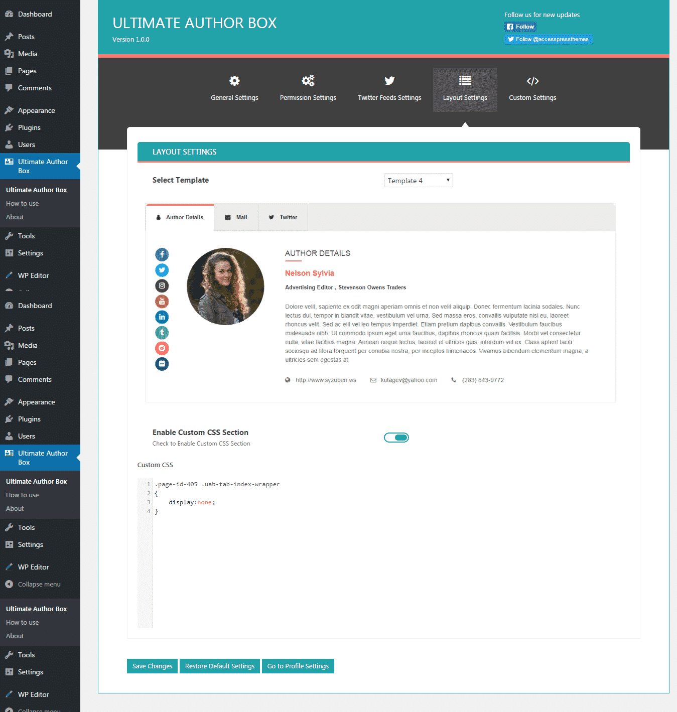 layout settings - How to add an Author Bio Information Box in your WordPress Blog Post? (Step by Step Guide)