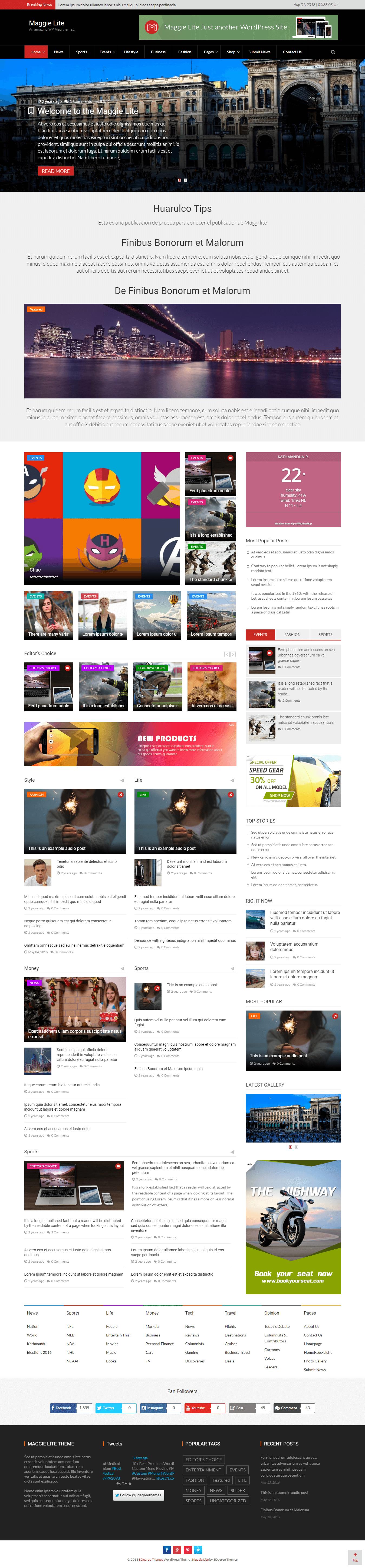 maggie lite best free adsense wordpress themes - 12+ Best Free Adsense WordPress Themes 2019 (Google Adsense Optimized)