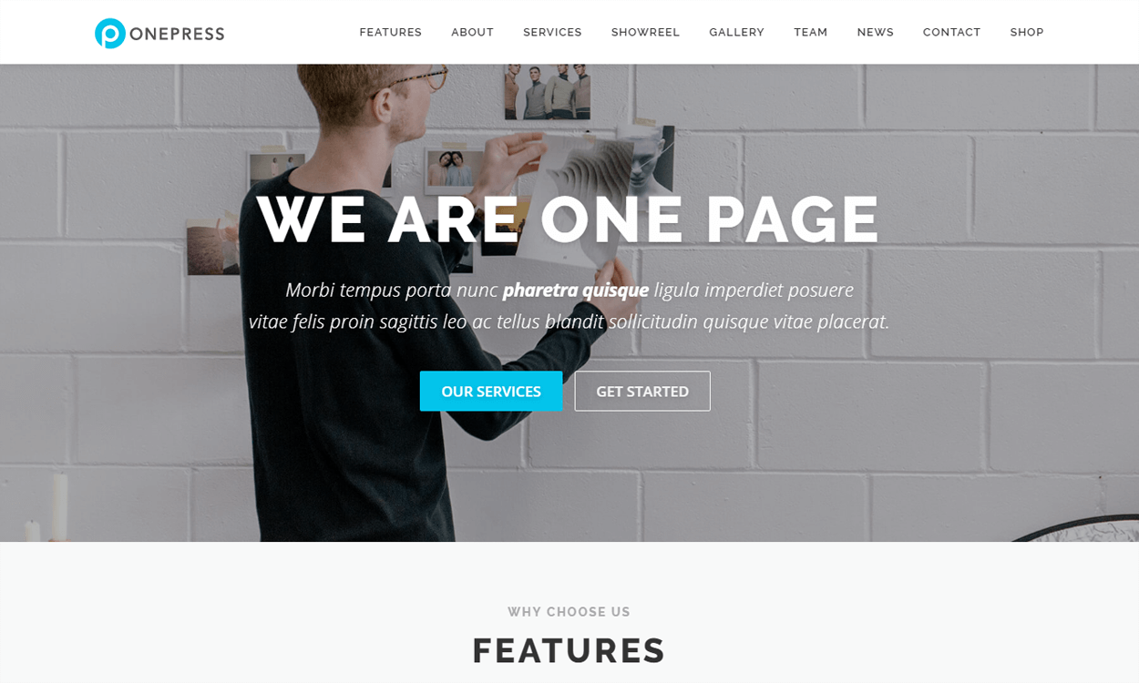 OnePress-Best Agency WordPress Themes and Templates (Free)