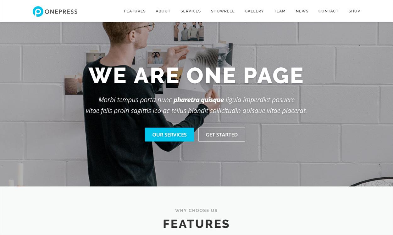 onepress best agency wordpress themes templates free - 10+ Best Agency WordPress Themes and Templates (Free)
