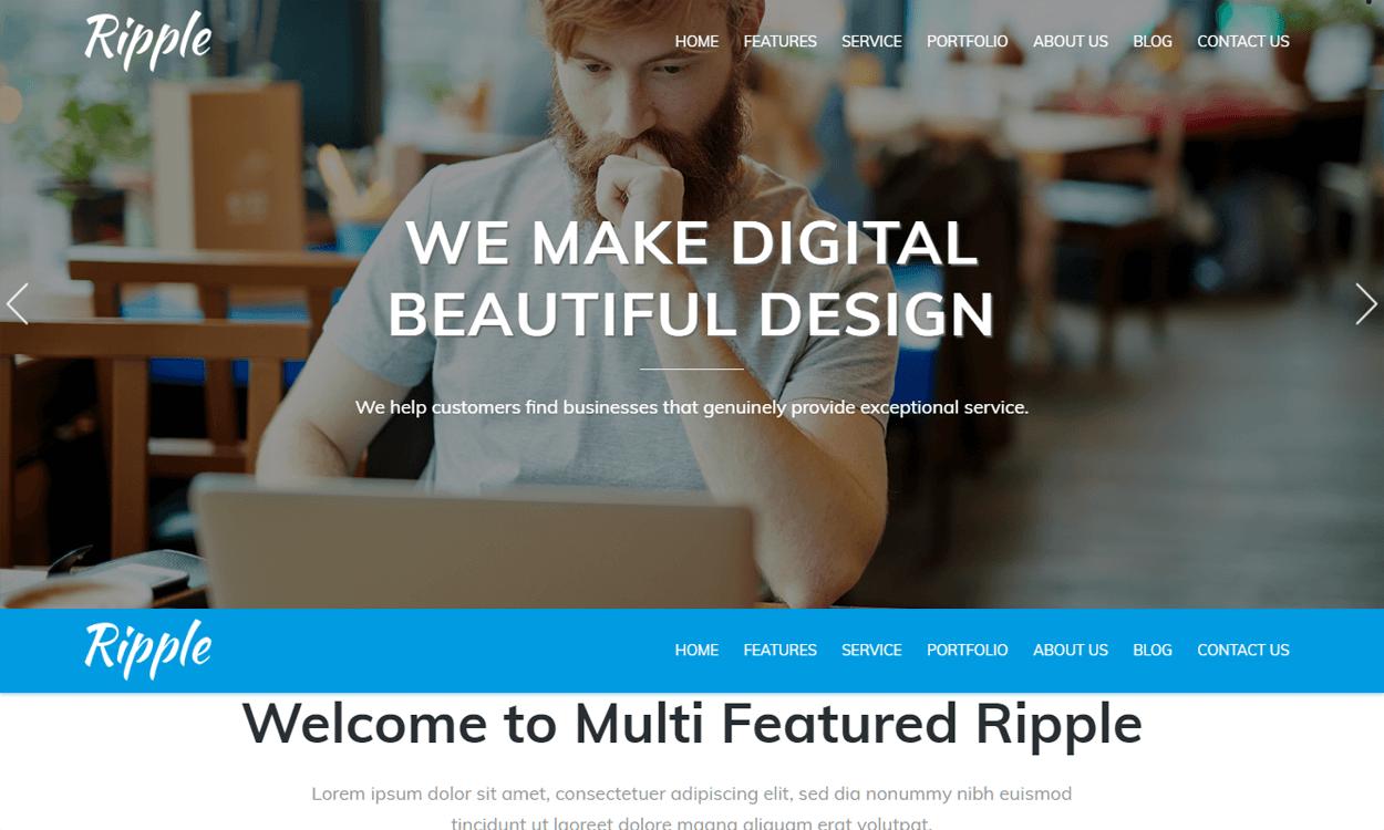ripple best agency wordpress themes templates free - 10+ Best Agency WordPress Themes and Templates (Free)
