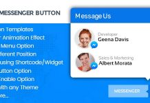 WP FB Messenger Button - Premium WordPress Messenger Button Plugin