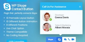 Best WordPress Skype Contact Button Plugins - WP Skype Contact Button