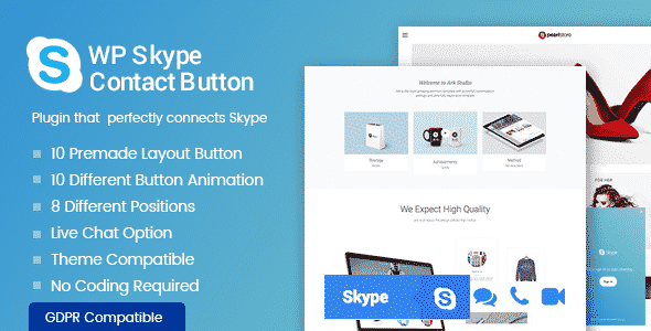 wp skype contact button - 5+ Best WordPress Skype Contact Button Plugins 2019