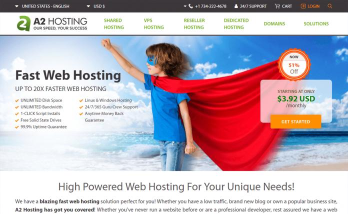 A2 Hosting WordPress Hosting Services