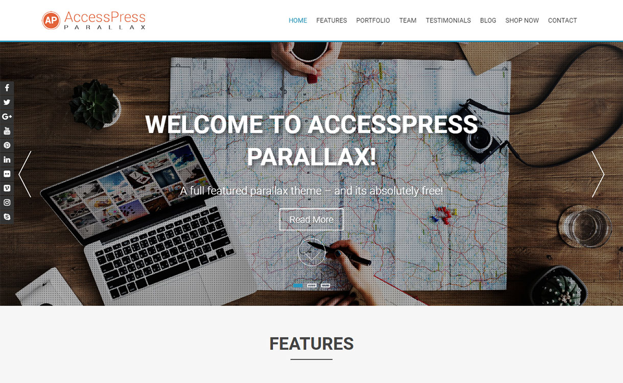 accesspress-parallax-best-free-parallax-wordpress-themes