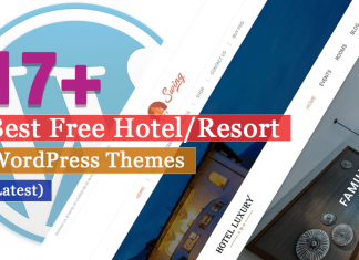 Best Free Hotel Resort WordPress Themes Latest