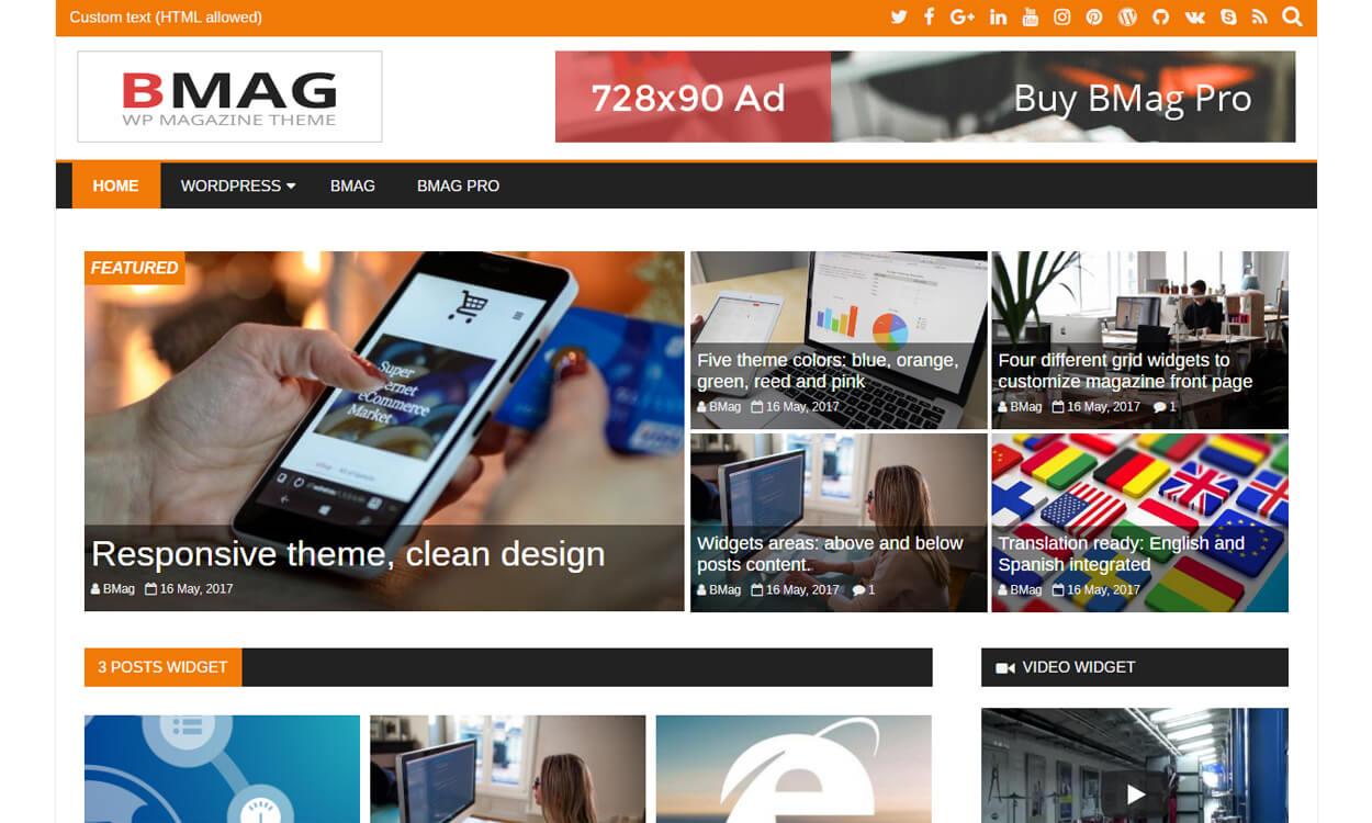 Bmag - Best Free WordPress Themes August