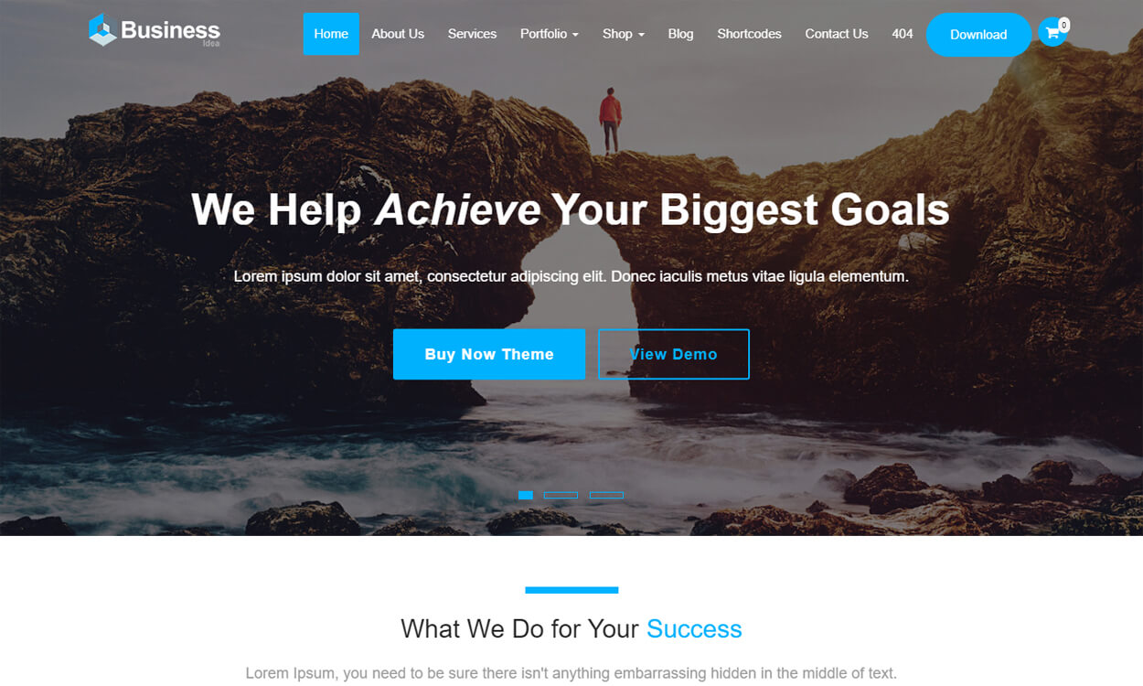 Business Idea - Best Free WordPress Themes August
