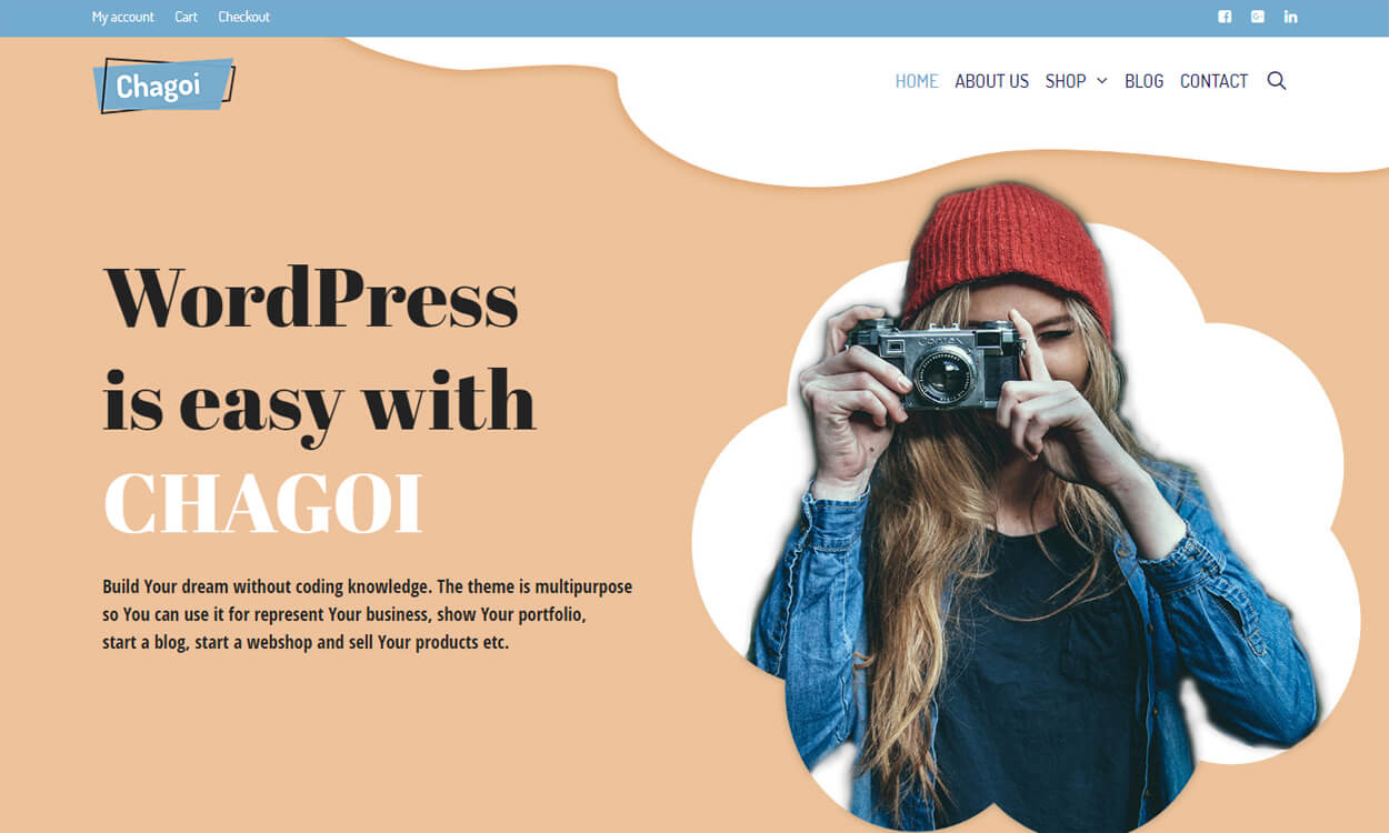 Chagoi - Best Free WordPress Themes August