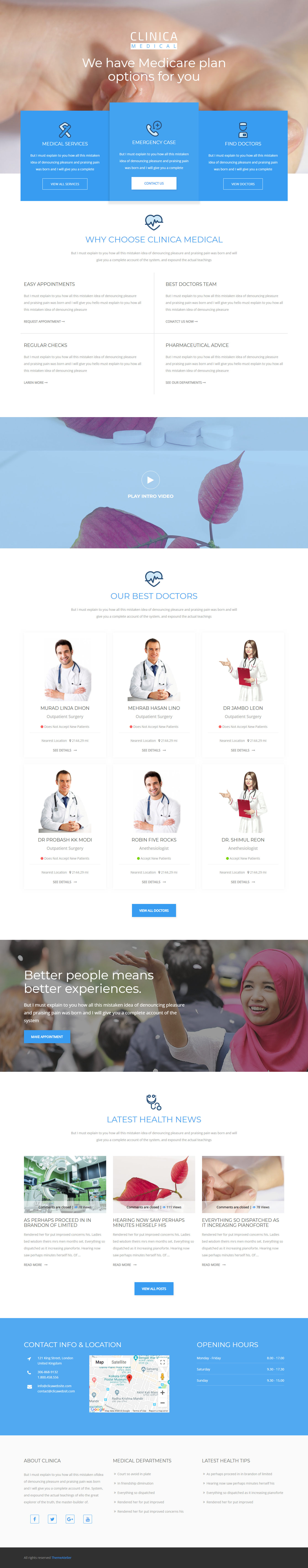 clinica best premium responsive wordpress theme - 25+ Best Responsive WordPress Themes and Templates (Premium Collection)