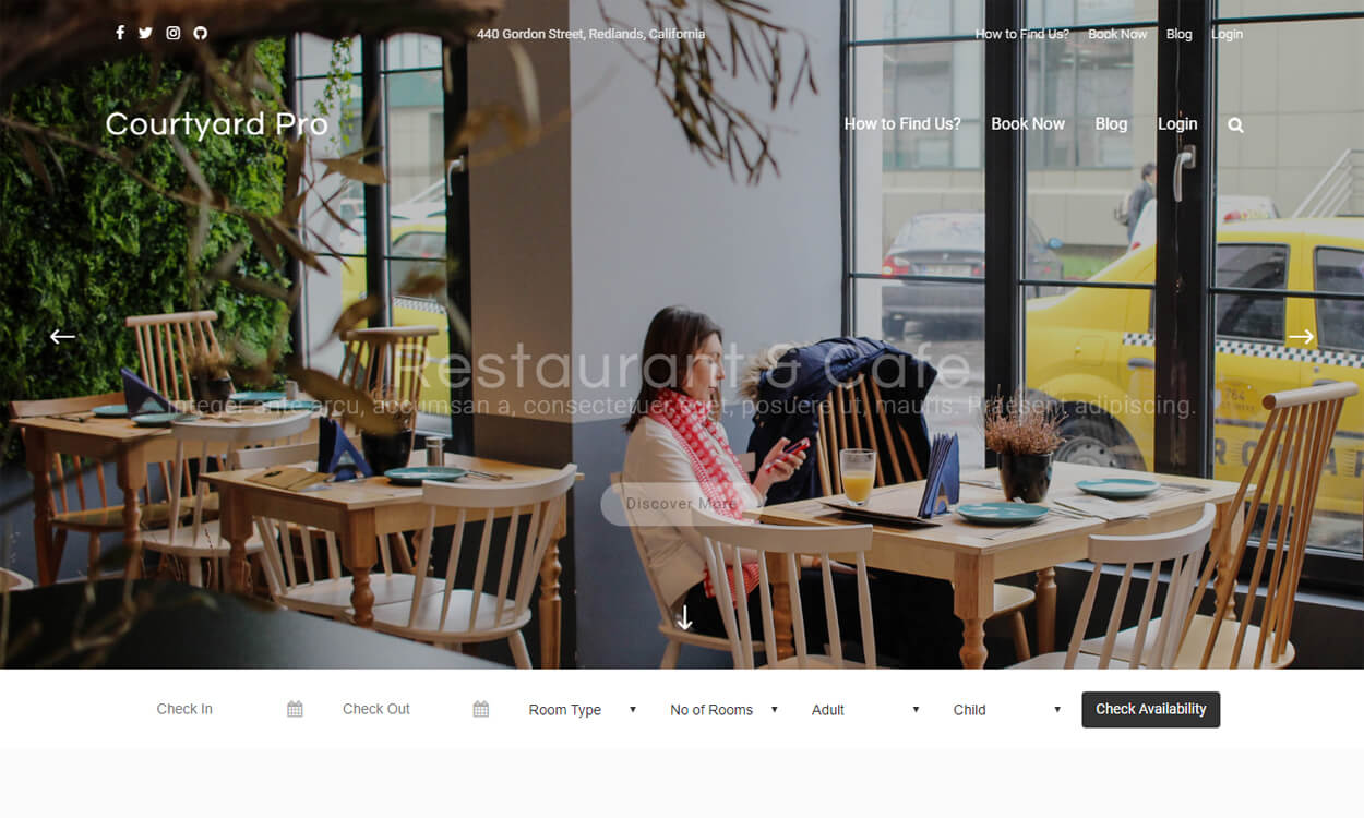 Courtyard - Courtyard - Best Free Hotel Resort WordPress Themes Latest