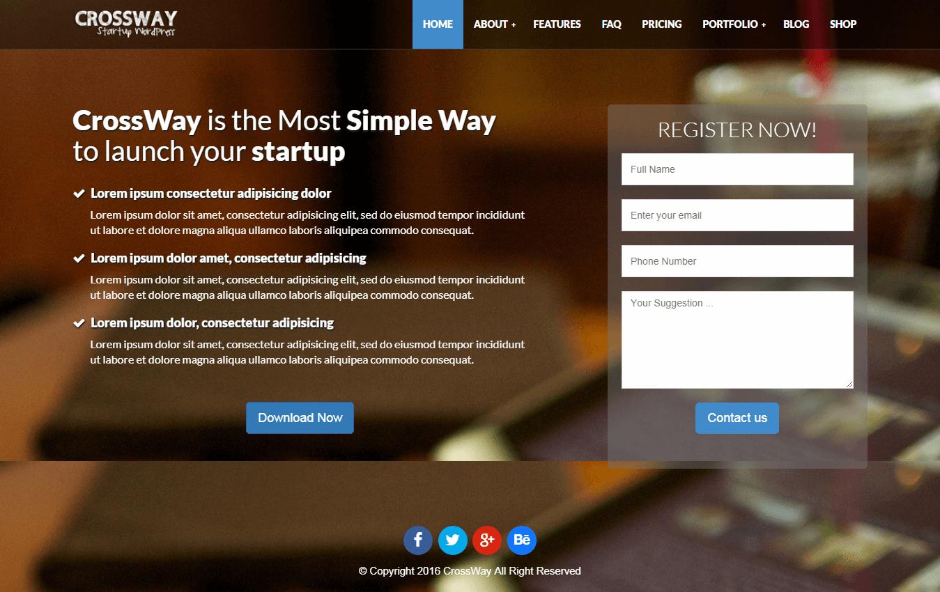 crossway premium wordpress landing page themes - 10+ Best Premium Landing Page WordPress Themes