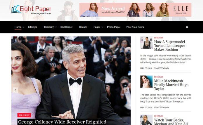 Eight Paper - Free WordPress News Magazine Theme