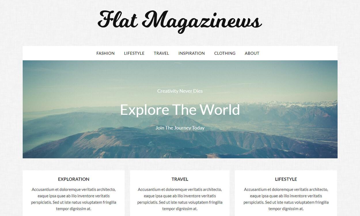 flat magazinews - 25+ Best Free WordPress Themes August 2018