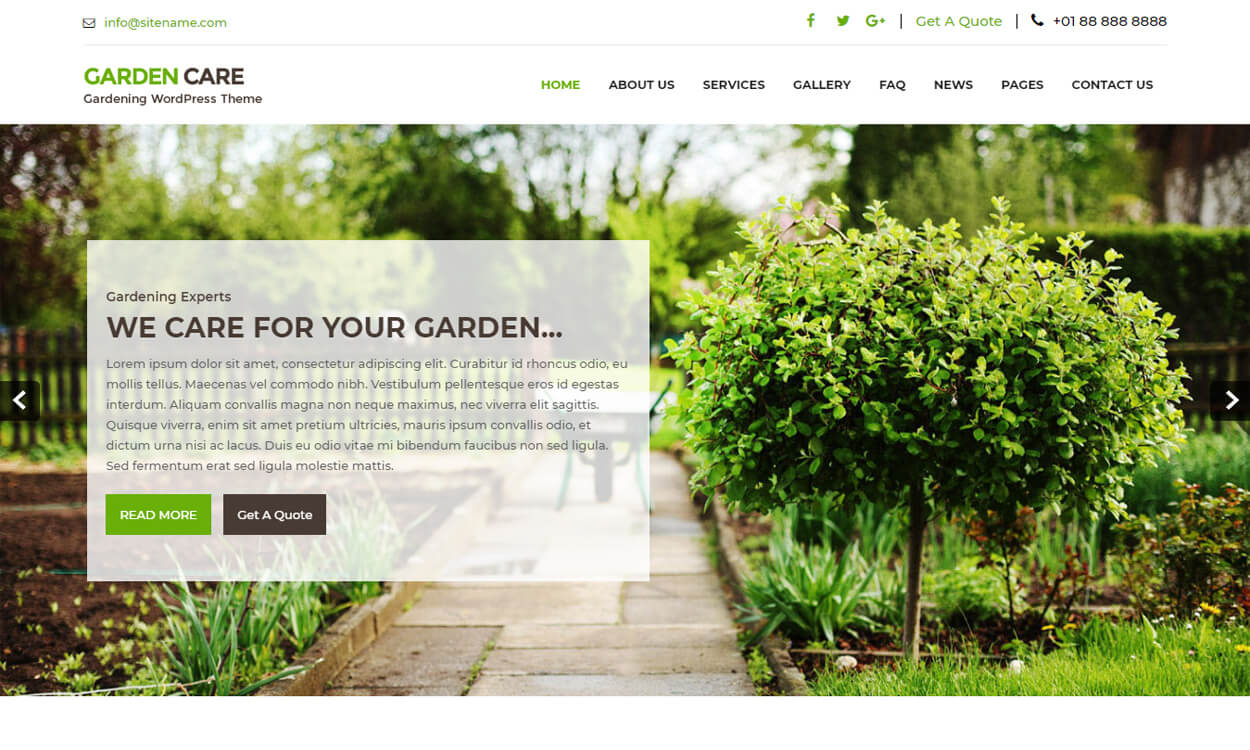 Greenhouse - Best Free WordPress Themes August