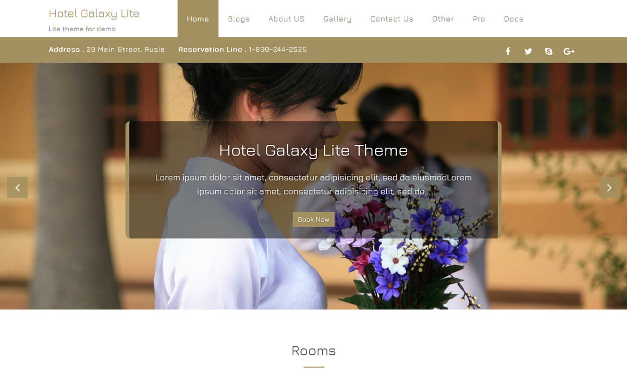hotel galaxy lite best free hotel resort wordpress themes latest - 17+ Best Free Hotel / Resort WordPress Themes (latest)