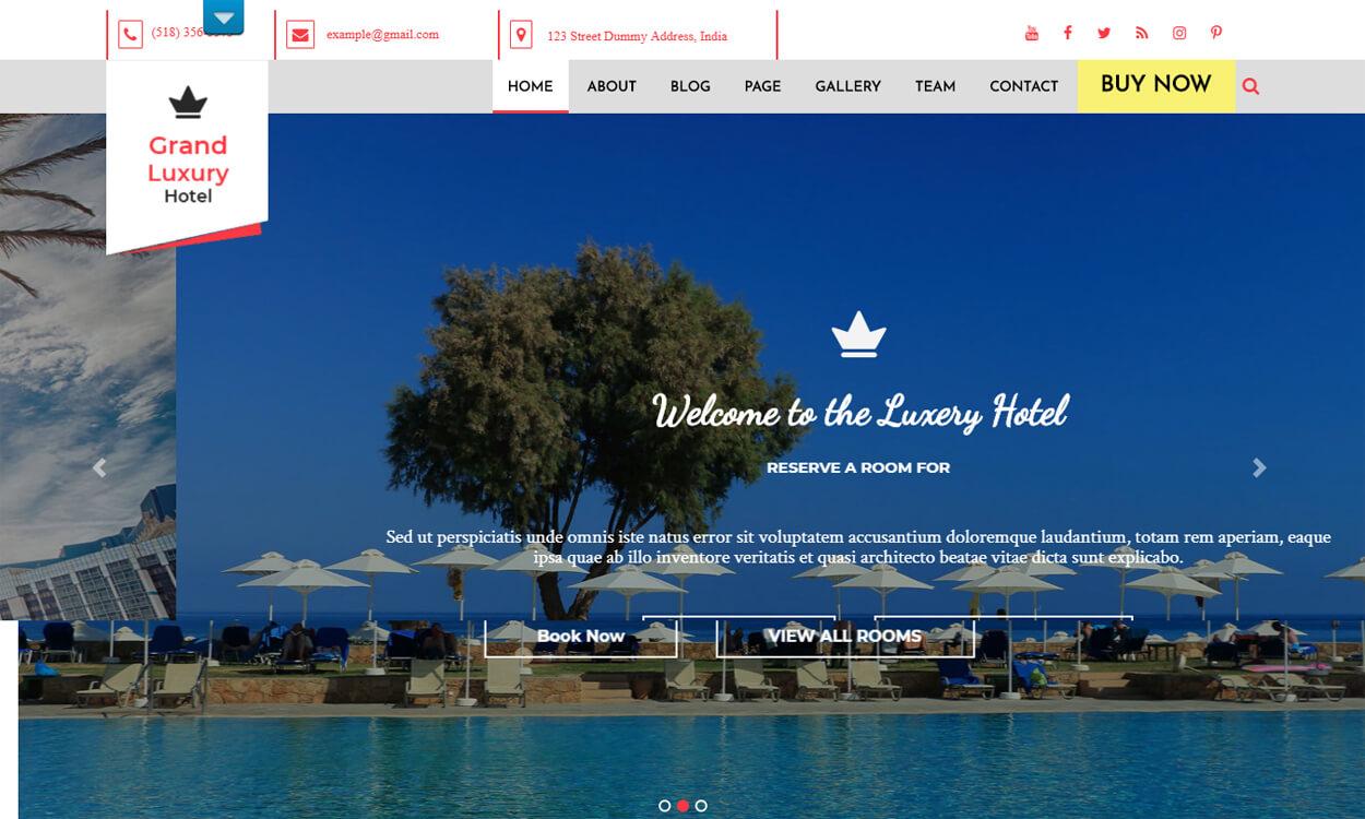 Hotel Resort - Best Free Hotel Resort WordPress Themes Latest