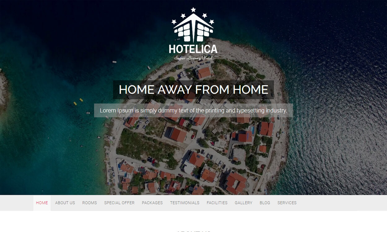 Hotelica - Best Free Hotel Resort WordPress Themes Latest