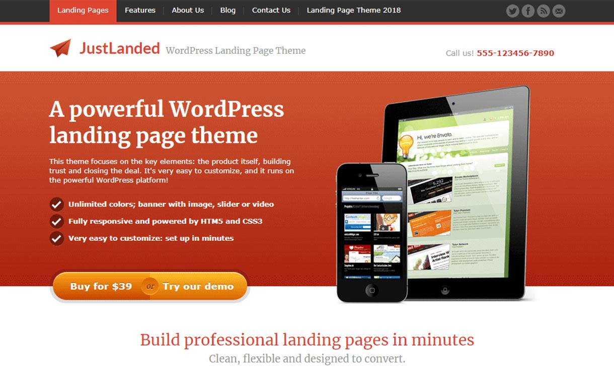just-landed-premium-wordpress-landing-page-themes