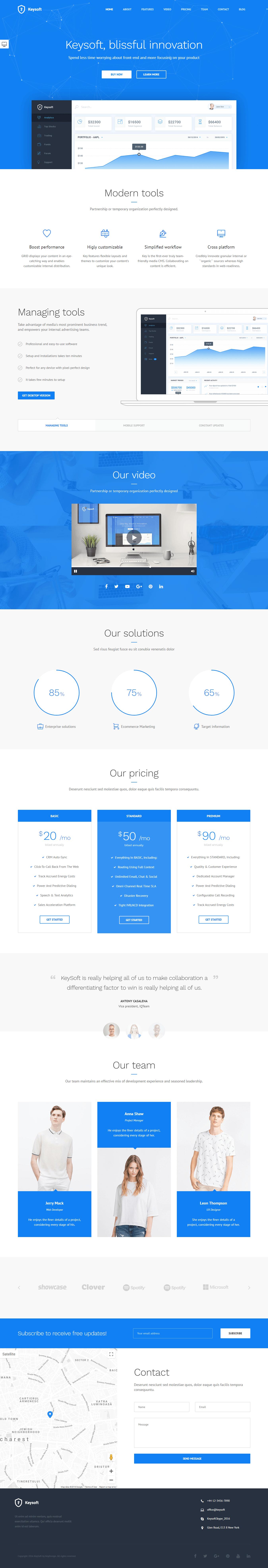 Keysoft - Premium WordPress Landing Page Themes