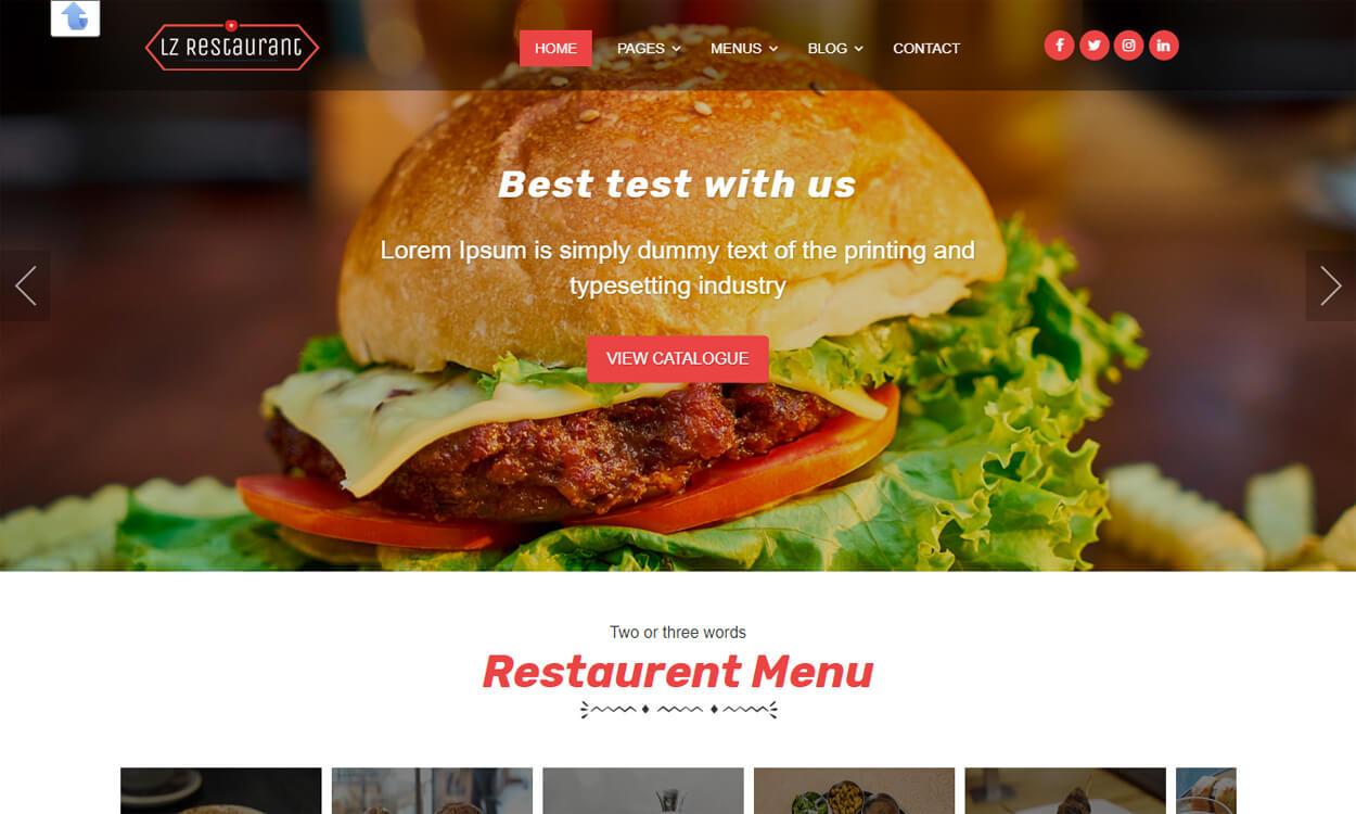 lzrestaurant - 17+ Best Free Hotel / Resort WordPress Themes (latest)