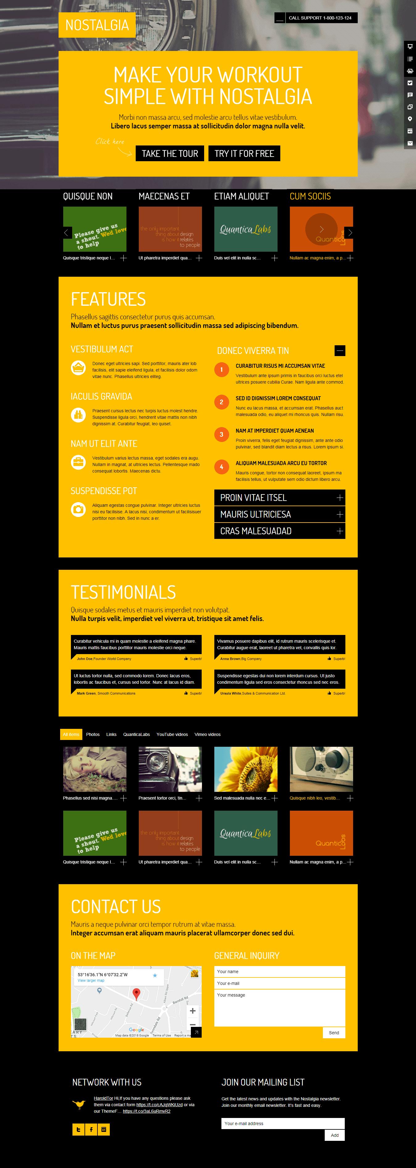 nostalgia Landkit premium wordpress landing page themes - 10+ Best Premium Landing Page WordPress Themes