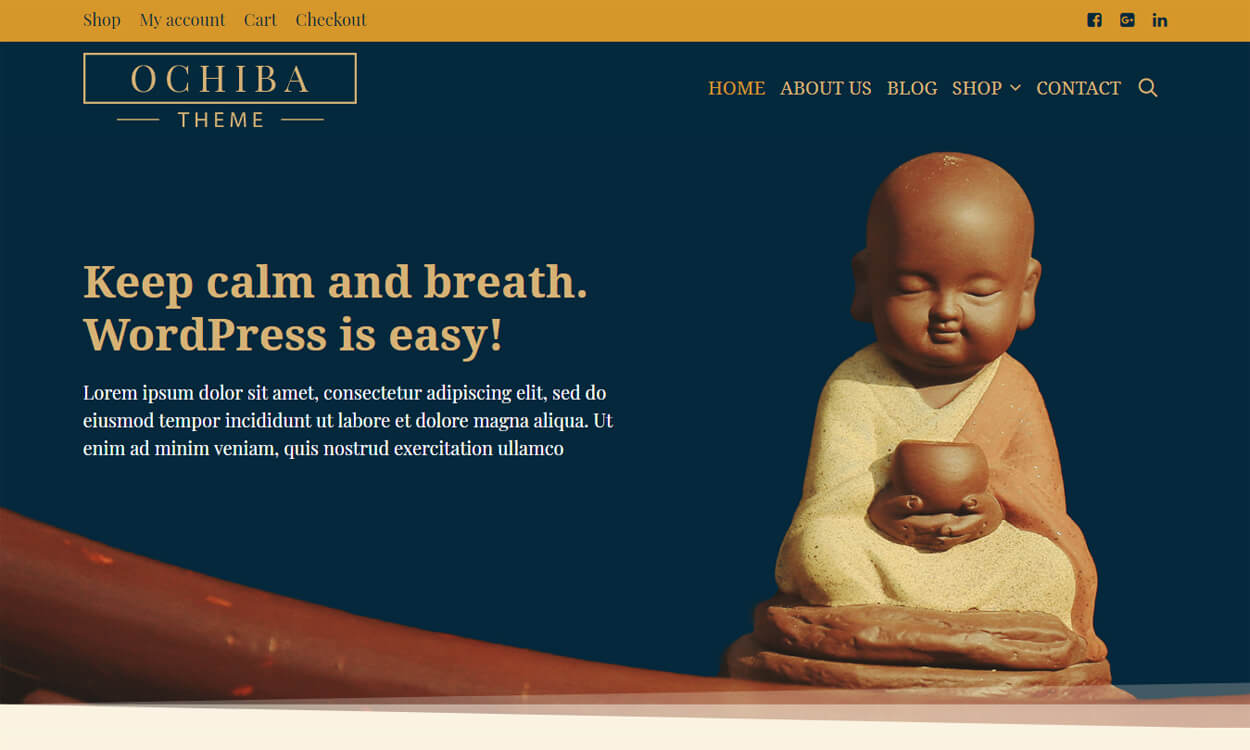 ochiba - 25+ Best Free WordPress Themes August 2018