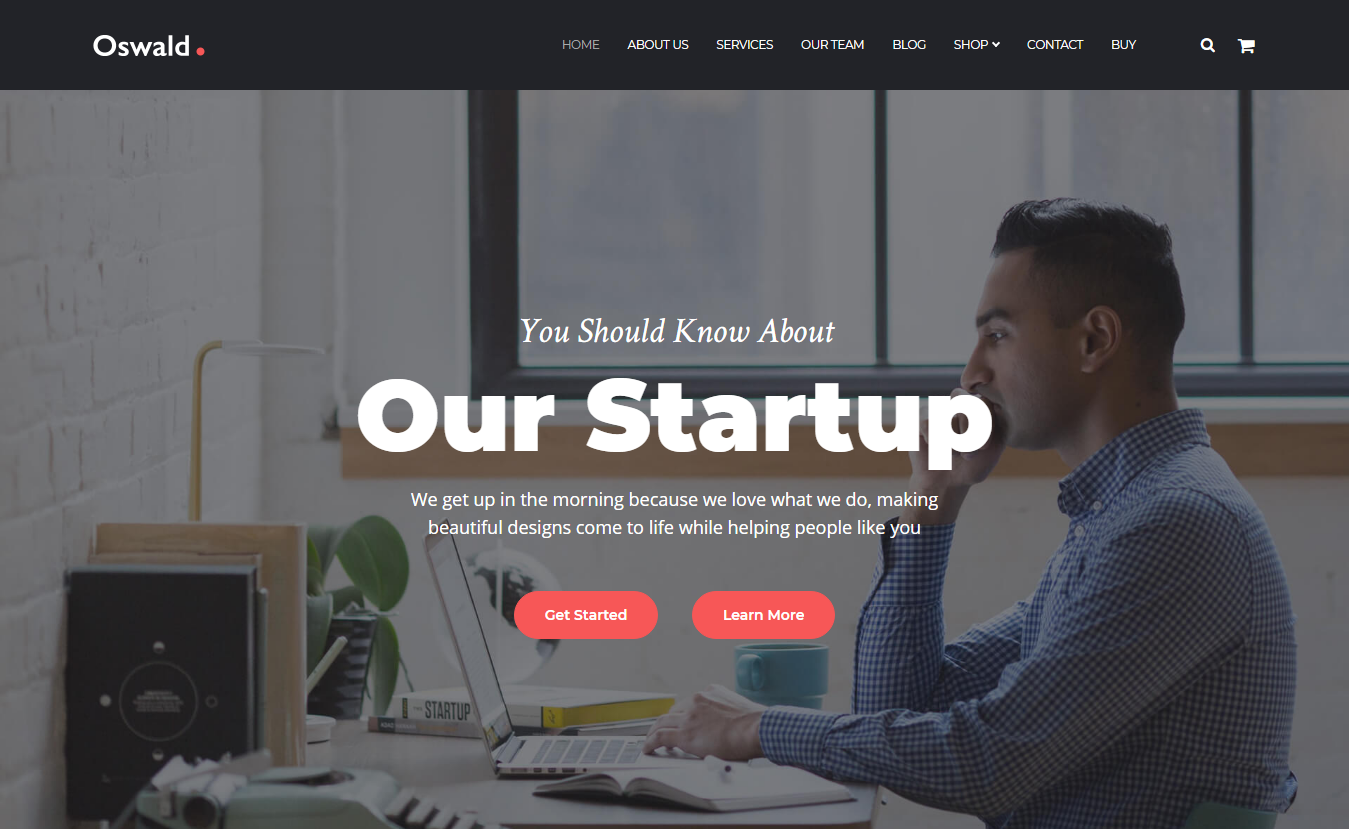 Oswald - Best Free WordPress Themes August