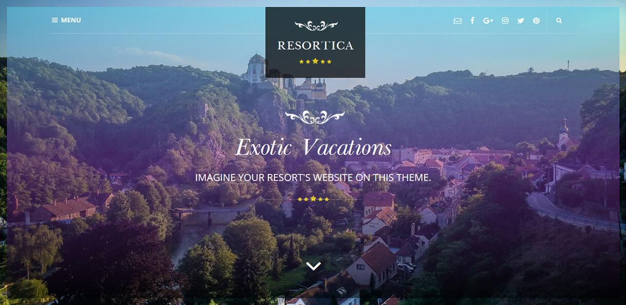 resortica best free hotel resort wordpress themes latest - 17+ Best Free Hotel / Resort WordPress Themes (latest)