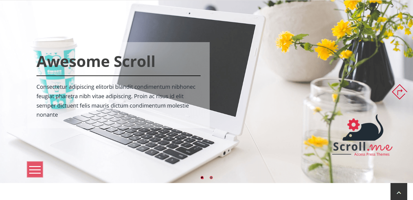ScrollMe - Best Free Parallax WordPress Themes