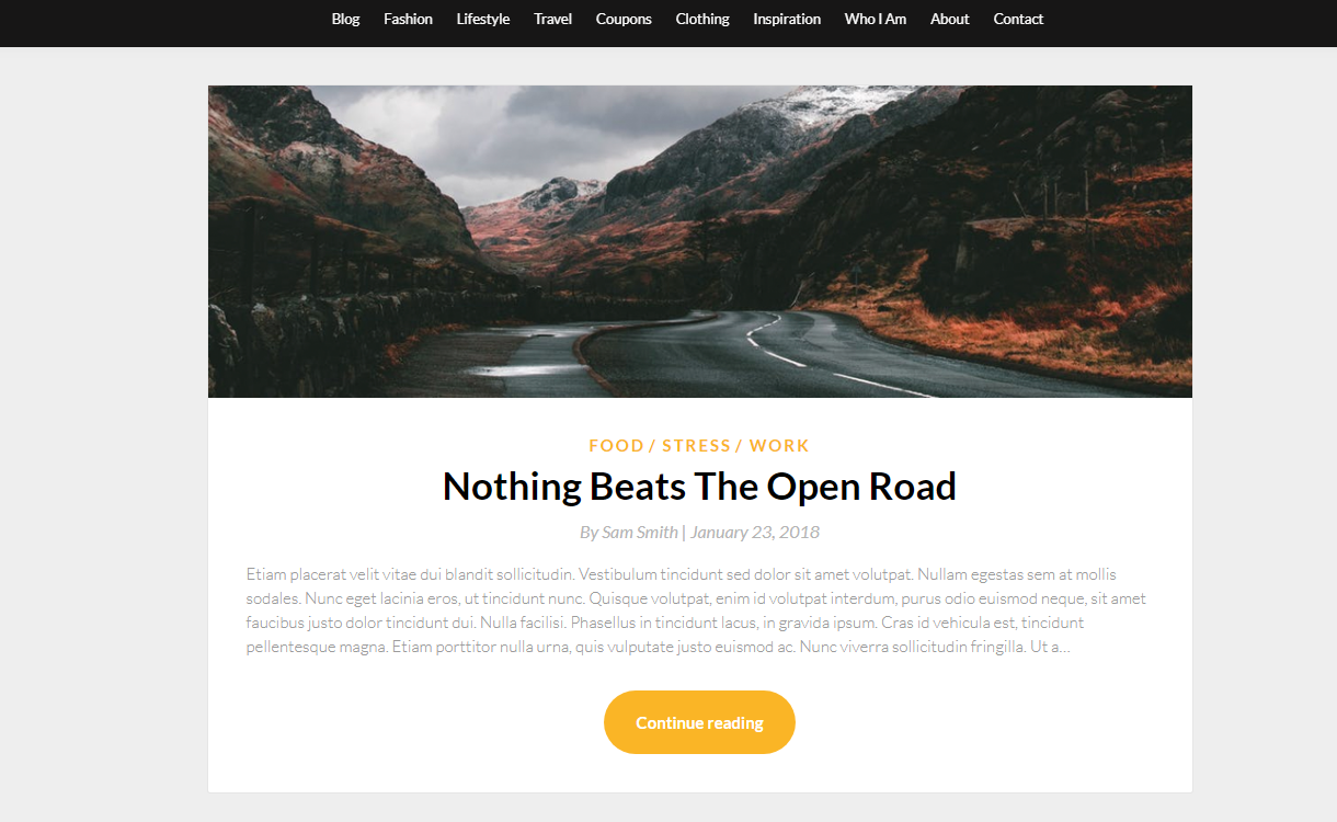 Simpleblogily - Best Free WordPress Themes August